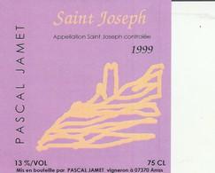 Cotes Du Rhone : SAINT-JOSEPH : 1999 - Pascal Jamet - 07 Arras( Pas De Frais Paypal ) - Côtes Du Rhône
