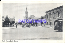 97871 ARGENTINA BAHIA BLANCA BS AS STREET CALLE ALSINA & TRAMWAY TRANVIA POSTAL POSTCARD - Argentina