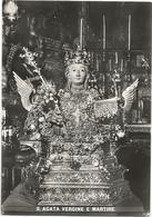 X3785 Catania - Sant'Agata Vergine E Martire - Statua Della Santa / Viaggiata 1966 - Catania