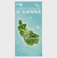 H01 Caribbean Netherlands 2016 Island Shaped Stamp - St. Eustatius MNH Postfrisch - Curacao, Netherlands Antilles, Aruba