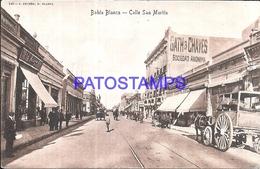 97878 ARGENTINA BAHIA BLANCA BS AS STREET CALLE SAN MARTIN CART A HORSE BREAK POSTAL POSTCARD - Argentina