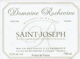 Cotes Du Rhone : SAINT-JOSEPH : Domaine Rochevine : 07 Rochevine : ( Pas De Frais Paypal ) - Côtes Du Rhône