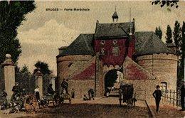 1 Postkaart Litho Couleurs 1910 - EDITION MATTHYS Soeurs - 4 Hondenspannen Hondenkarren - Transport Canine à Bruges RARE - Brugge