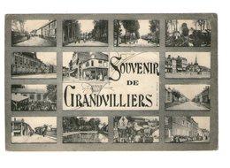 60 Grandvilliers Souvenir Carte 13 Vues Cpa Carte Animée Animation - Grandvilliers