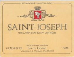 Cotes Du Rhone : SAINT-JOSEPH : Pierre Gonon : 07 Mauves : ( Pas De Frais Paypal ) - Côtes Du Rhône