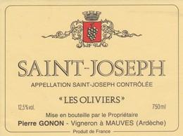 Cotes Du Rhone : SAINT-JOSEPH : Les Oliviers : Pierre Gonon : 07 Mauves : ( Pas De Frais Paypal ) - Côtes Du Rhône