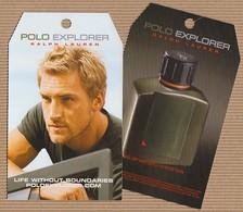 CC Carte Parfumée 'RALPH LAUREN' 'POLO' 'EXPLORER'perfume Card PATCH - Modern (from 1961)
