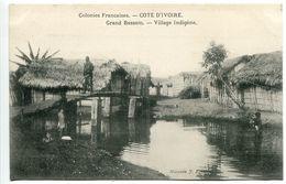 Colonies Françaises COTE D'IVOIRE Grand Bassam  Village Indigène - Excellent état - Ivory Coast