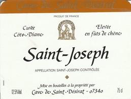 Cotes Du Rhone : SAINT-JOSEPH : Cuvée Cote Diane : 07 Saint-désirat  ( Pas De Frais Paypal ) - Côtes Du Rhône