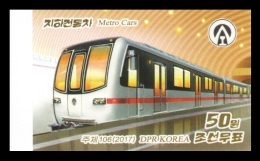 North Korea 2017 Mih. 6359B Metro Cars (imperf) MNH ** - Korea, North