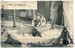 - NANTES - Mi Caréme -  écrite, 1925, Char : Fée Des Mers, Barque, 3 éme Prix, Non écrite, BE, Scans. - Nantes