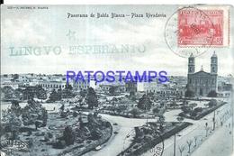 97894 ARGENTINA BAHIA BLANCA BS AS PLAZA RIVADAVIA CIRCULATED TO URUGUAY POSTAL POSTCARD - Argentina