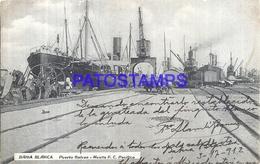 97895 ARGENTINA BAHIA BLANCA BS AS PUERTO GALVAN & SHIP MUELLE RAILROAD POSTAL POSTCARD - Argentina