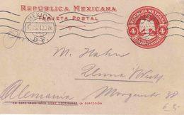 """MEXICO : ENTIER  (H & G)  N° 119  """"MEXICO / 7 MAY 10"""" Naar UNNA (D) - Mexique"""