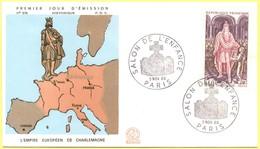 FRANCIA - France - 1966 - Charlemagne - Histoire De France - Salon De L'enfance - Paris - FDC - 1960-1969