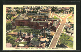 CPA Rochester, NY, Aerial View Of Bausch And Lomb Optical Co - Rochester