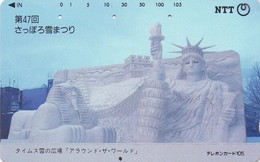 TARJETA TELEFONICA DE JAPON. (ESTATUA DE LA LIBERTAD) (165) - Japan