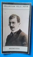 Ferdinand Brunetière, Historien De La Littérature Et Critique Littéraire Français, Photographie Collection Félix Potin - Personnes Identifiées
