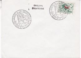 SOBRE ENVELOPPE PHILATELIQUE. GLOIRE A LA REVOLUTION. RETOUR A LA PAIX ALGER 1963. GREEN STAMP- BLEUP - Algerije (1962-...)