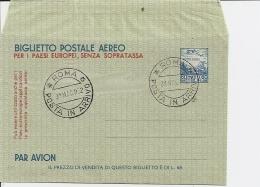 Italien LF 1 - 60 L Aerogramm M  Bl. Ersttagsstempel 31.5.52 - 1946-.. République