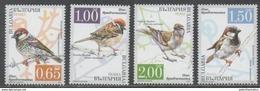 BULGARIA , 2017, MNH, BIRDS, SPARROWS, 4v - Sparrows
