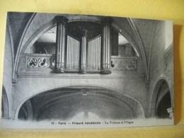 75 J271 CPA 1925 - 75 PARIS. PRIEURE BENEDICTIN. LA TRIBUNE ET L'ORGUE. - Eglises