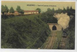 88 BRUYERES . Tunel Et Caserne D'infanterie , Tram , édit :  I P M , écrite En1912 , état Extra - Bruyeres