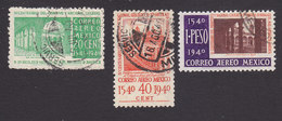 Mexico, Scott #C108-C110, Used, 400th Anniv Founding National College, Issued 1940 - Mexico