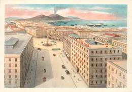 "CPSM ITALIE ""Naples, Hotel Albergo Patria"" - Napoli"