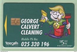 New Zealand - Chipcards - 1999 Calvert Cleaning - $5 - Mint - Card 011 - Neuseeland