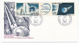 FRANCE - Enveloppe FDC - Fusée Diamant - Satellite A1 - Paris - 1965 - FDC