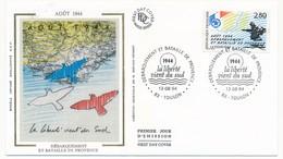 FRANCE - 3 Enveloppes FDC - Débarquement De Provence - Toulon, Draguignan, St Raphael - 1994 - 1990-1999