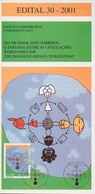 BRAZIL Edital Brochure Nº 30 - 2001 - World Post Day The Dialogue Among Civilizations -  Without Stamp - Brasil