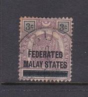 Malaysia-Federated Malay States, SG 3 1897 3c Brown,mint Hinged - Malaya (British Military Administration)