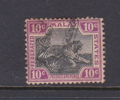Malaysia-Federated Malay States, SG 20 1900 10c Black And Claret,used - Malaya (British Military Administration)