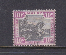 Malaysia-Federated Malay States, SG 20c 1900 10c Grey And Purple,used - Malaya (British Military Administration)
