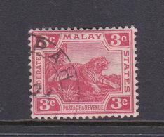 Malaysia-Federated Malay States, SG 34 1906 3c Carmine,used - Malaya (British Military Administration)