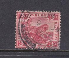 Malaysia-Federated Malay States, SG 34a 1917 3c Scarlet,used - Malaya (British Military Administration)