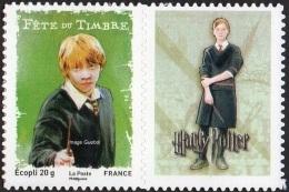Autoadhésif(s) De France N°  115 Au Modèle 4025 ** Fête Du Timbre 07 - Harry POTTER Son Ami RON + Logo Personnalisé - France