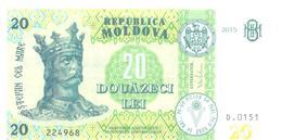 2018. Moldova, New 20L/2015, UNC - Moldavie