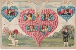 Puzzle Représenté Par 4 Cartes Toutes Ont Circulées En 1910 - Couples