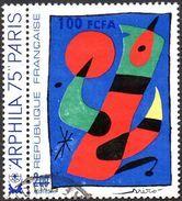 Réunion Obl. N° 425 - Arphila 75 - Oeuvre De Miro - Réunion (1852-1975)