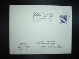 LETTRE TP BLASON TROYES 0,10 OBL.MEC.12-2 1964 ST QUENTIN PPAL AISNE (02) MOTO CROSS SIDE CARS CHAMPIONNAT INTER Le 12 A - Moto