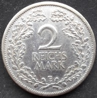 Allemagne, Weimar 2 Reichsmark 1926 E - Argent / Silver - [ 3] 1918-1933 : Weimar Republic