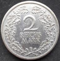 Allemagne, Weimar 2 Reichsmark 1926 E - Argent / Silver - [ 3] 1918-1933 : Republique De Weimar