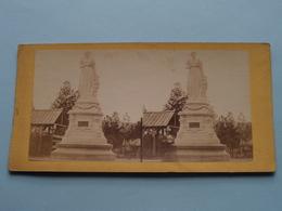 Statue De Josephine - Paris ( Stereo Photo ) ( La France ) ! - Photos Stéréoscopiques
