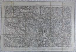 Carte Taride Sur Toile 1/80000 Sens Imp Lemercier & Cie Paris Levée 1841. - Topographische Kaarten
