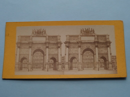 Arc Du Carrousel à Paris ( Stereo Photo ) ( La France ) ! - Photos Stéréoscopiques