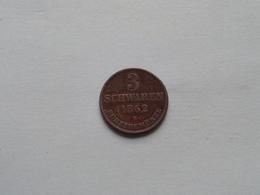 OLDENBURG - 3 SCHWAREN 1862 B / KM 191 > Identify ( Uncleaned - For Grade, Please See Photo ) 1 Pc / Coin ! - [ 1] …-1871 : Etats Allemands