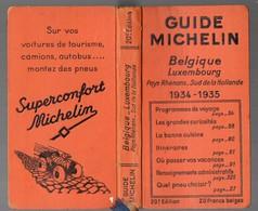 Belgique-Luxembourg, Pays Rhénan, Hollande Sud : Guide Michelin 1934 -35 - Michelin (guides)